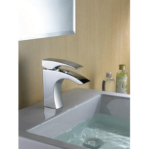Single-lever lavatory faucet