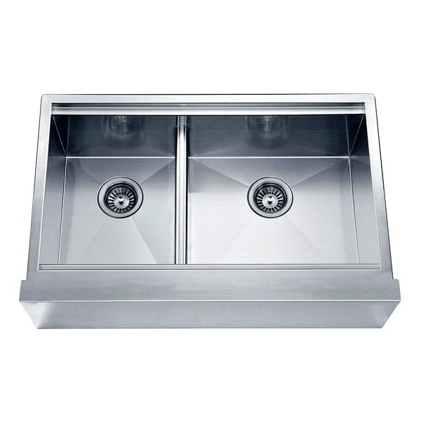 Double Bowl Sink with Straight Apron