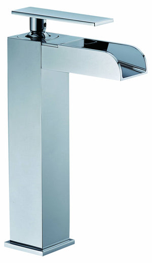 Single-lever medium-tall lavatory faucet (with open spout)