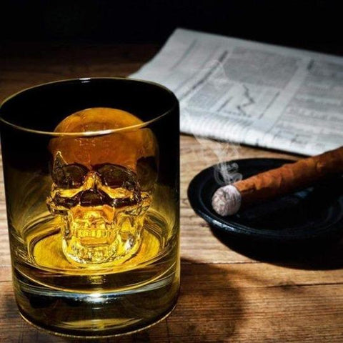 3D-Skull-Flexible-Silicon-Ice Cube-Mold-Tray-GiftFeed