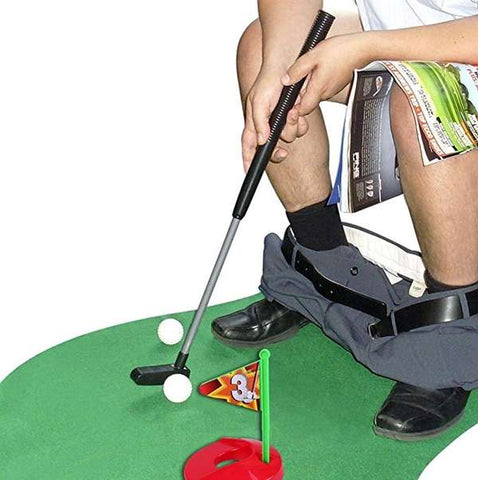 Toilet Golf Potty Time Putter Bathroom Game