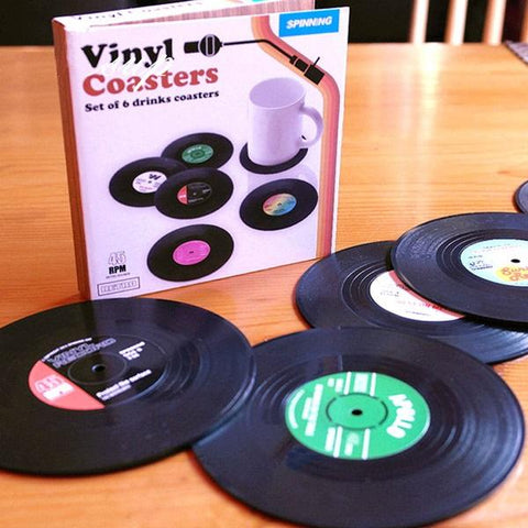 Vinyl-record coaster for drinks-housewarming-giftideas-gift-feed
