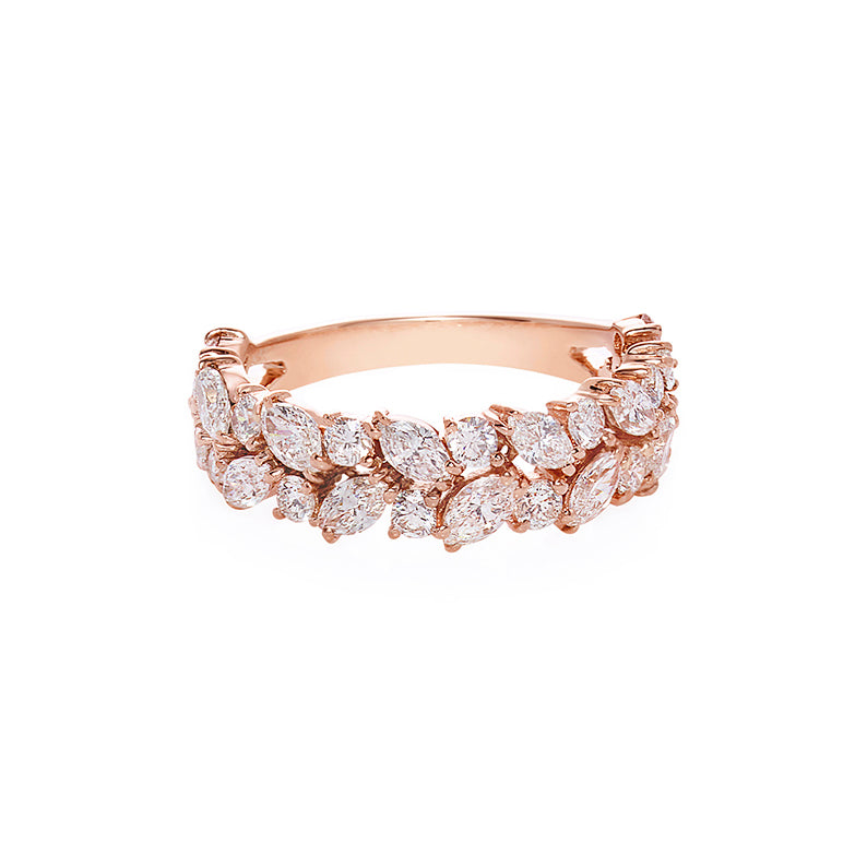 Marquise Diamond Half Eternity Ring - HN JEWELRY