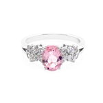 Morganite and Marquise Diamond Ring