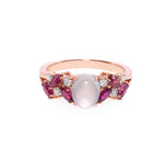 Jade and Ruby and Marquise Diamond Ring - HN JEWELRY