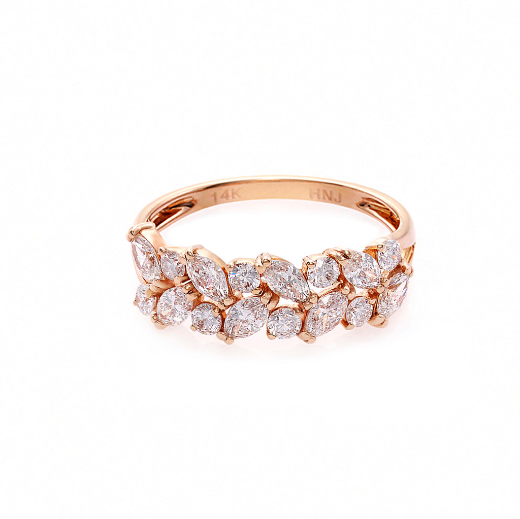 Marquise Diamond Ring in 14K Rose Gold - HN JEWELRY