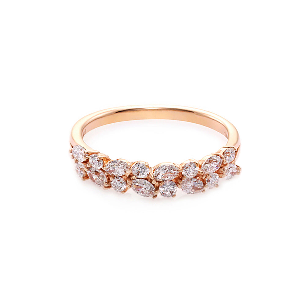 Marquise Diamond and Round Diamond Ring - HN JEWELRY