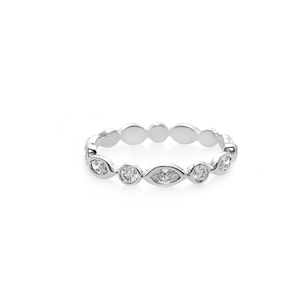 Marquise Diamond Eternity Stacking Ring - HN JEWELRY
