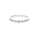 Marquise Diamond Wedding Ring in Platinum