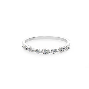 Marquise Diamond Wedding Ring in Platinum - HN JEWELRY