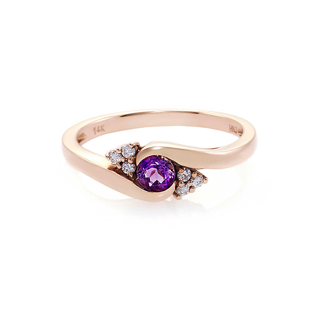 amethyst_diamond_twist_engagement_ring_rose_gold