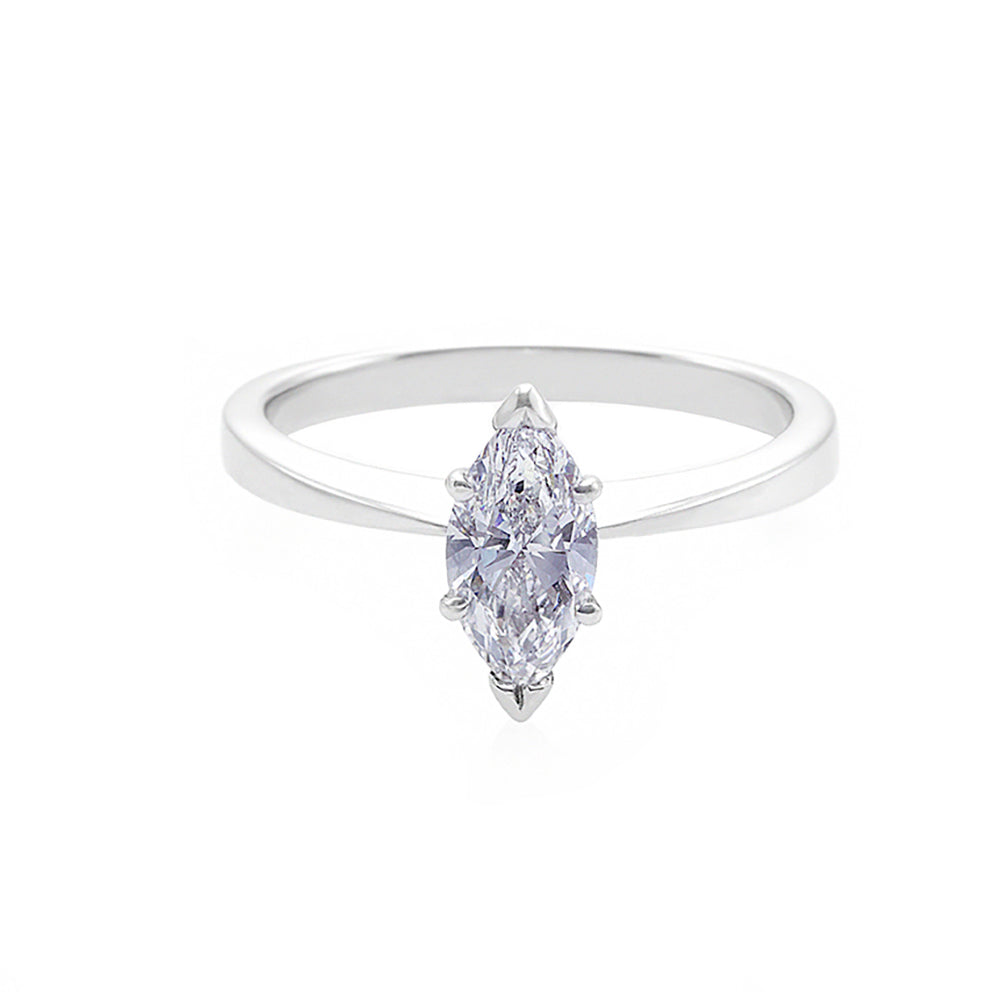Marquise Diamond Solitaire Ring - HN JEWELRY