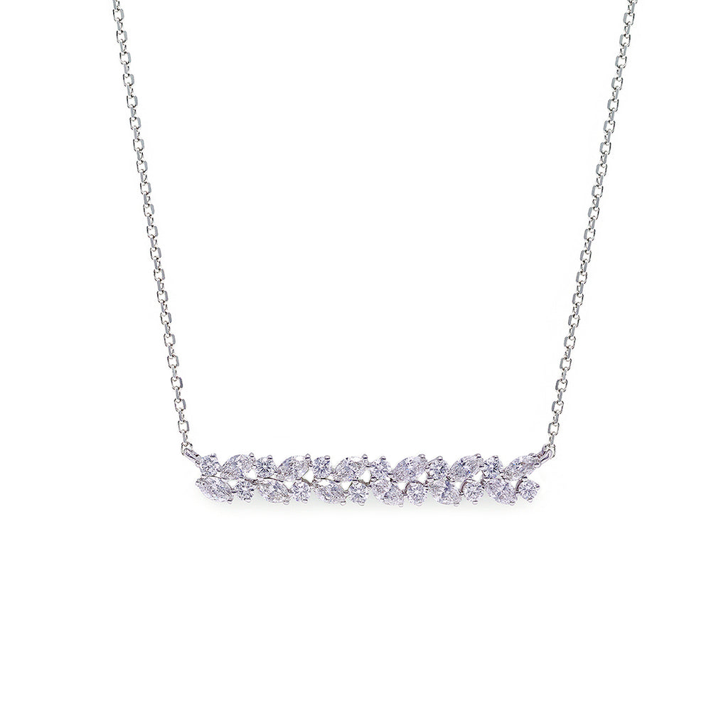 Marquise Diamond Necklace in 18K White Gold