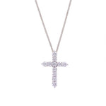 Cross Diamond Pendant in White Gold