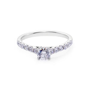 Diamond Engagement Ring in 18K White Gold - HN JEWELRY