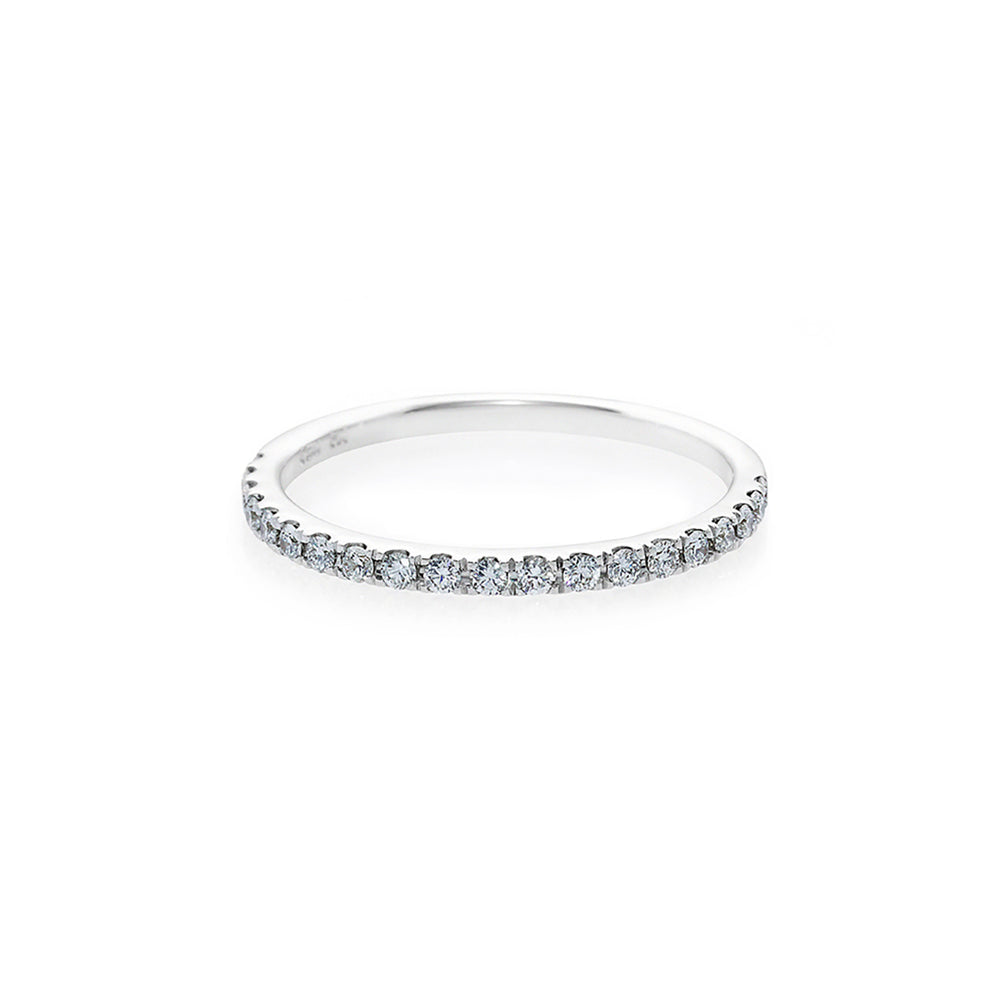 Thin Diamond Ring in White Gold
