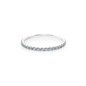 Thin Diamond Ring in White Gold - HN JEWELRY