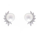 South Sea Pearl and Marquise Diamond Earrings