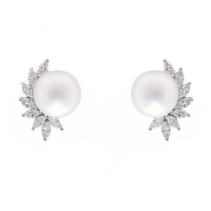South Sea Pearl and Marquise Diamond Earrings - HN JEWELRY
