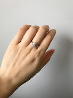 0.70cttw Solitaire Marquise Diamond Engagement Ring in 18K White Gold - HN JEWELRY