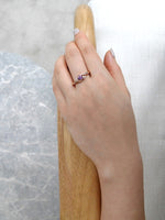 Amethyst & Diamond Twist Ring in 14K Rose Gold - HN JEWELRY