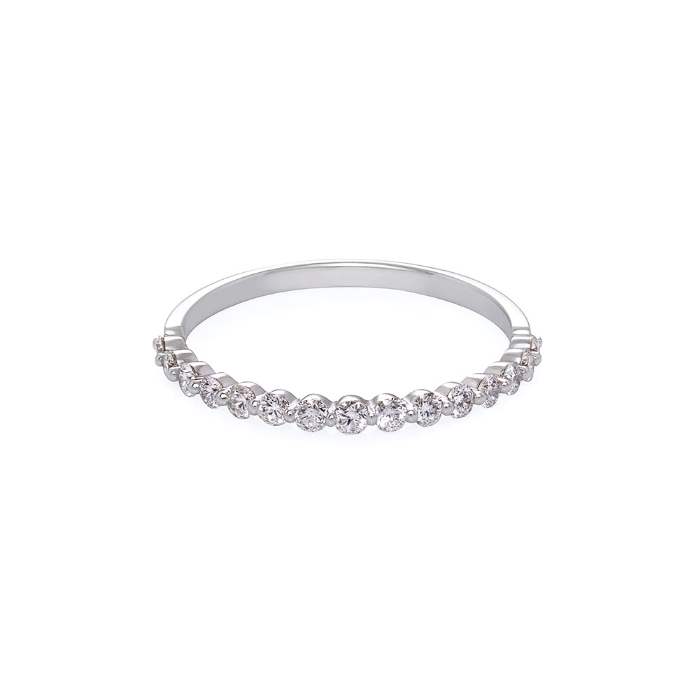 Floating Diamond Ring in White Gold