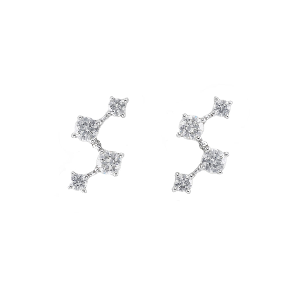Diamond Earrings in White Gold
