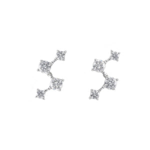 Diamond Earrings in White Gold - HN JEWELRY