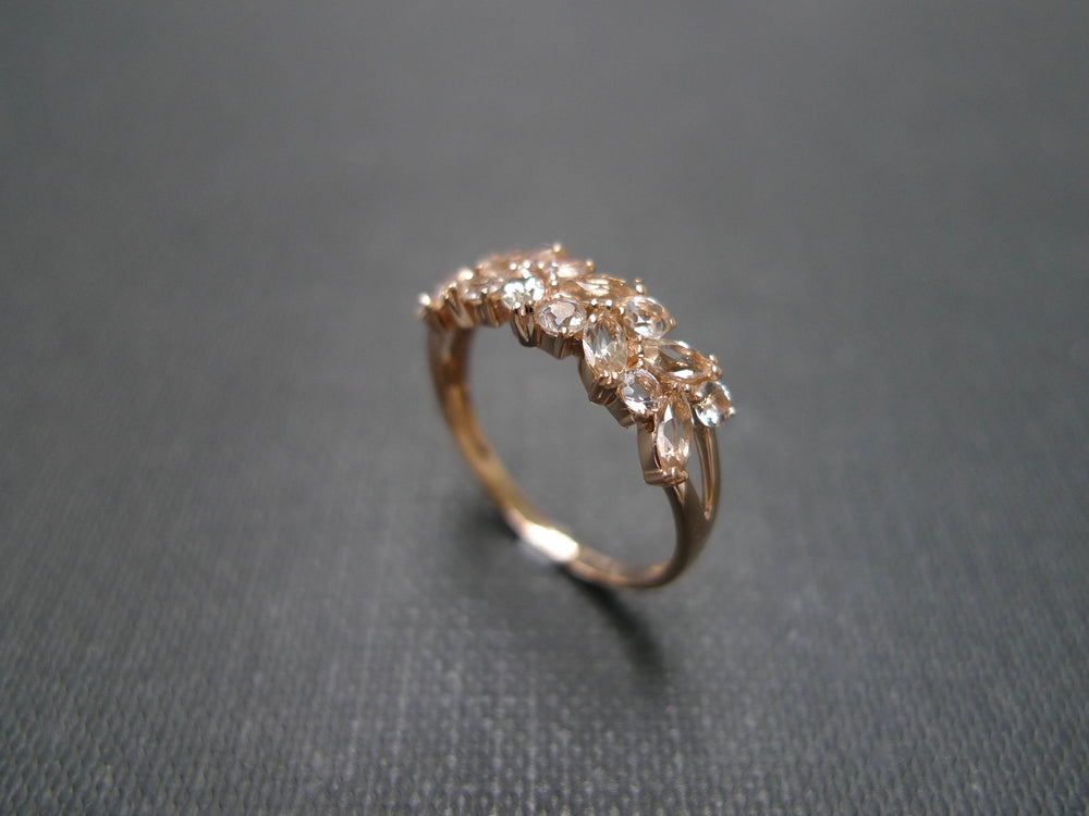 Marquise Champagne Morganite Ring