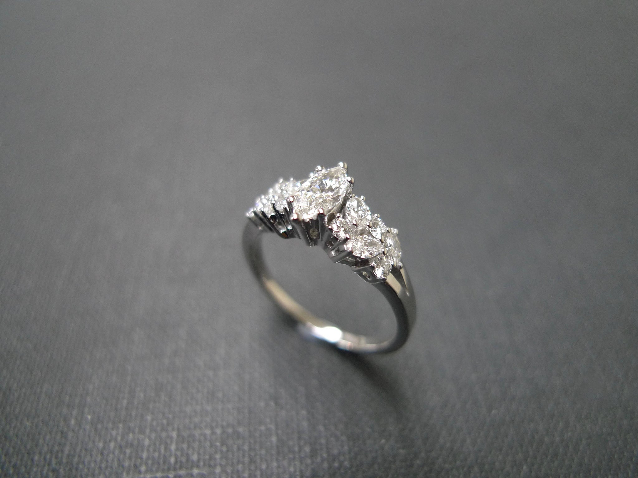 Marquise Diamond Engagement Ring - HN JEWELRY