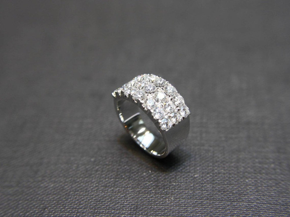 three_row_diamond_wedding_ring_white_gold