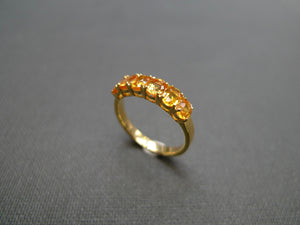 Oval Shape Yellow Sapphire Ring in Yellow Gold - HN JEWELRY