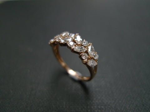 marquise diamond ring rose gold