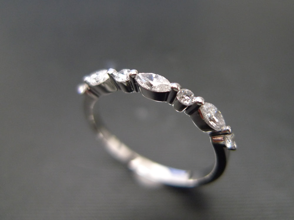 one_row_marquise_diamond_wedding_ring_white_gold