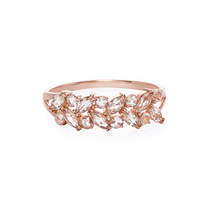 Champagne Marquise Morganite Ring in Rose Gold