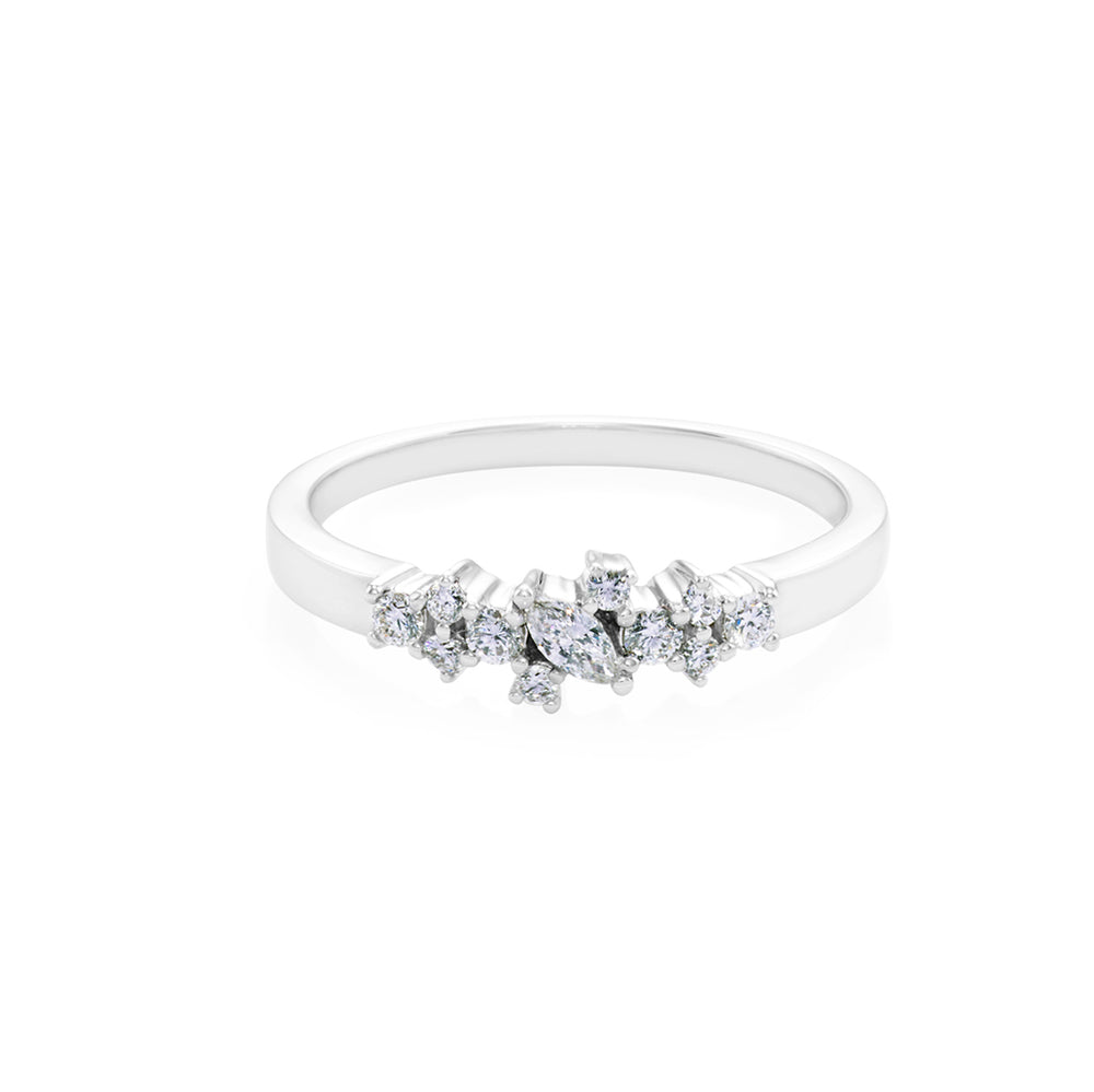 Marquise Diamond Ring in White Gold