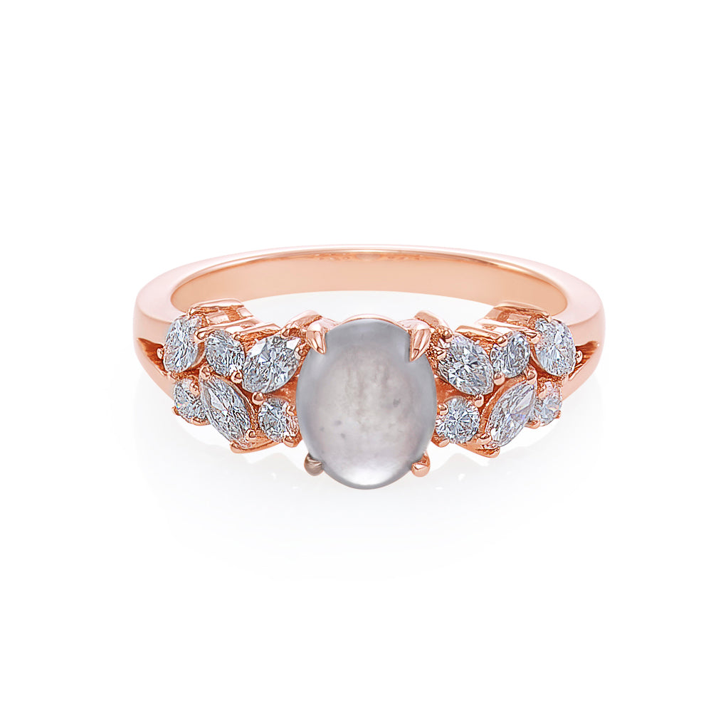 Jade and Marquise Diamond Ring