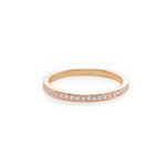 Thin Diamond Ring in Rose Gold