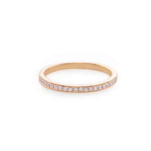 Thin Diamond Ring in Rose Gold - HN JEWELRY