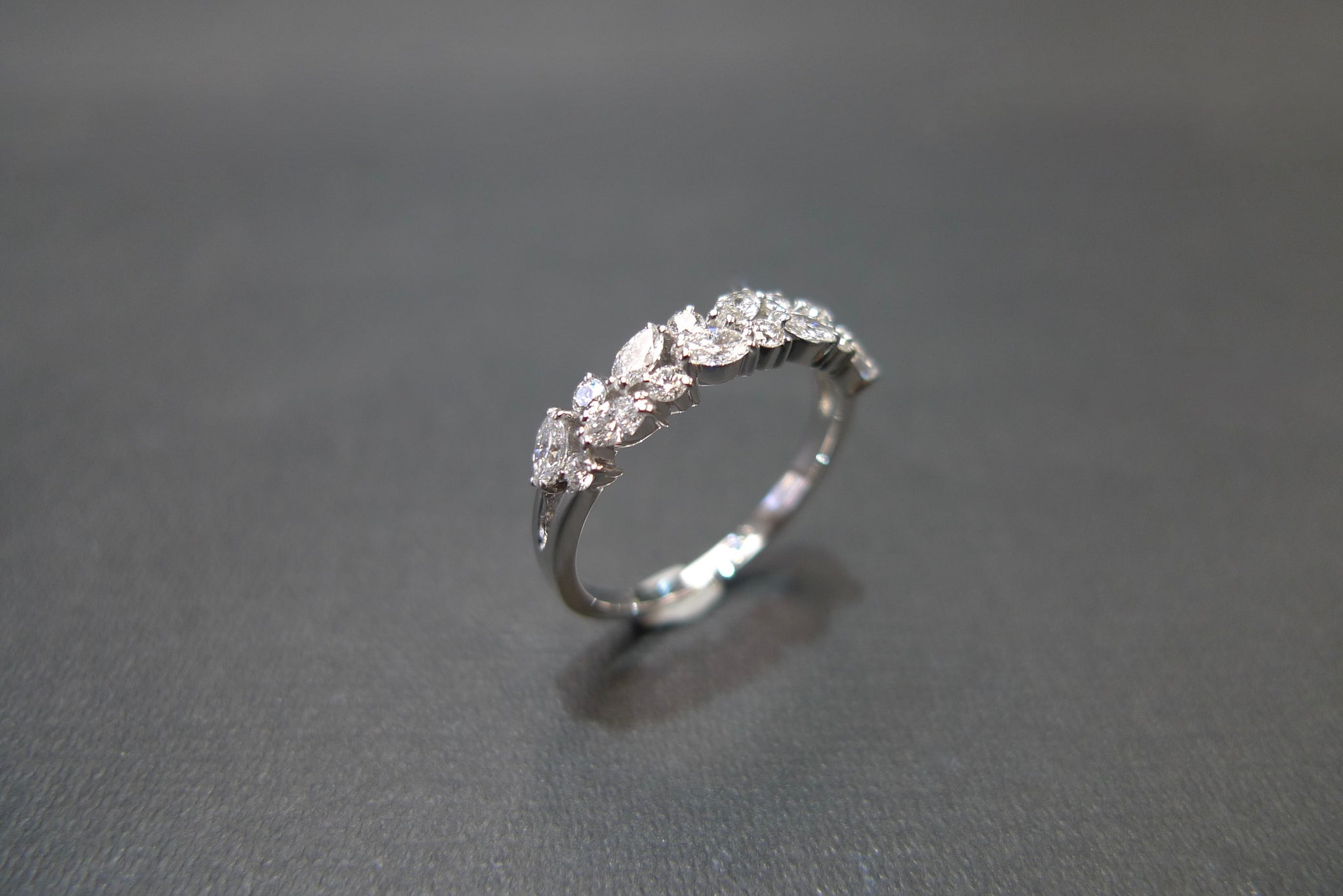 Marquise Diamond Ring in 18K White Gold - HN JEWELRY