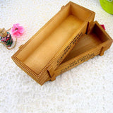22CM Vintage Wooden Storage Box