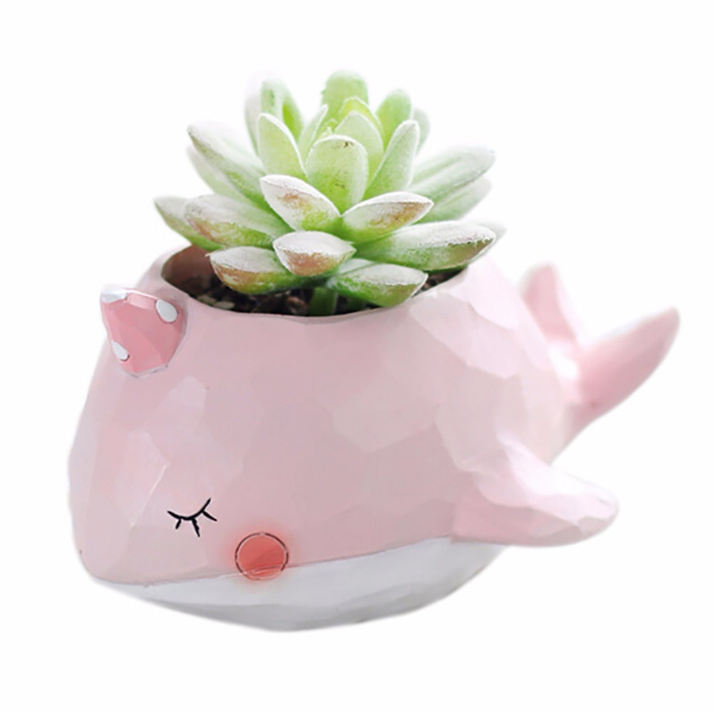 Natural Resin Succulent Plant Pot