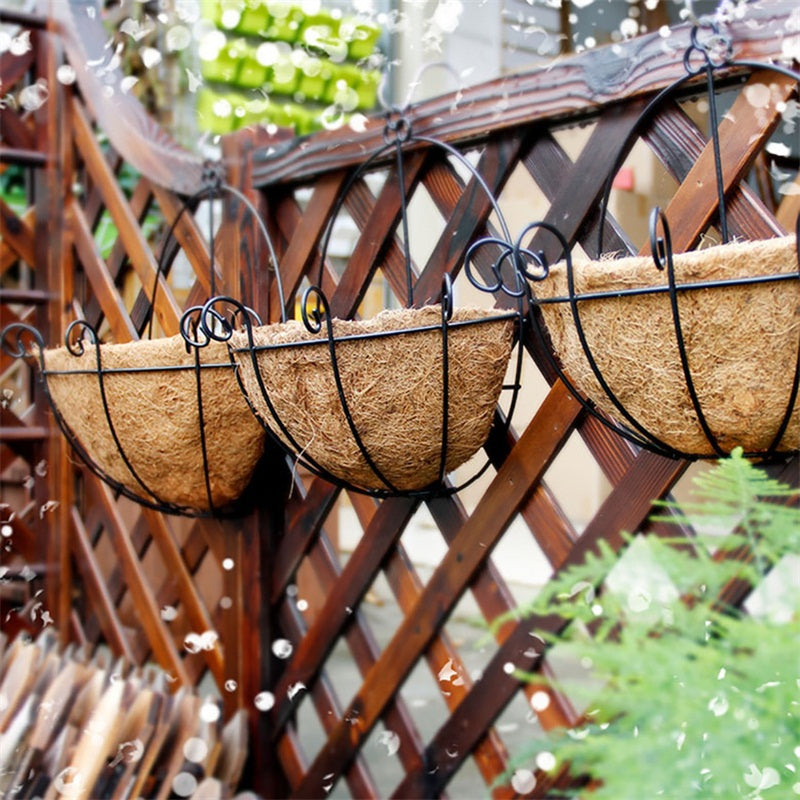 Iron & Coconut Hanging Pots
