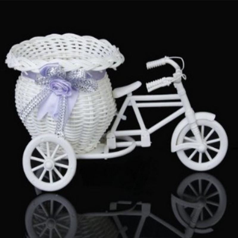 Rattan Tricycle Basket Plant