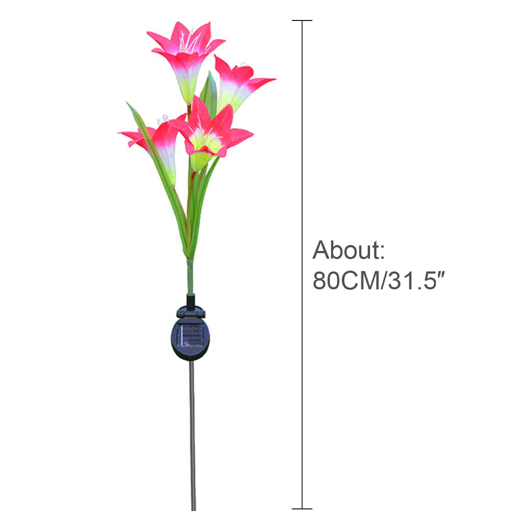 Solar LED Lily Flower Lamp