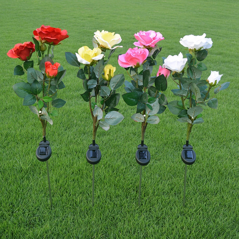 Solar Rose Flower LED Lights