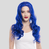 Blue Synthetic Lace Front Wig