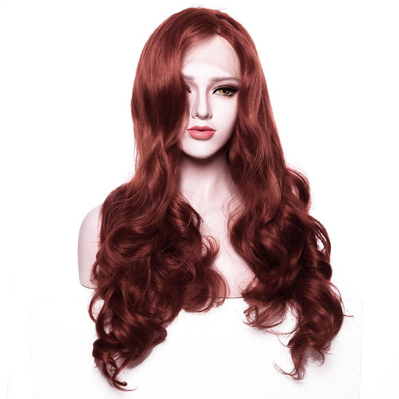 Red Synthetic Lace Front Wig