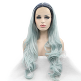 Light Green Synthetic Lace Front Wigs