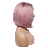 Ombre Pink Synthetic Lace Front Wigs